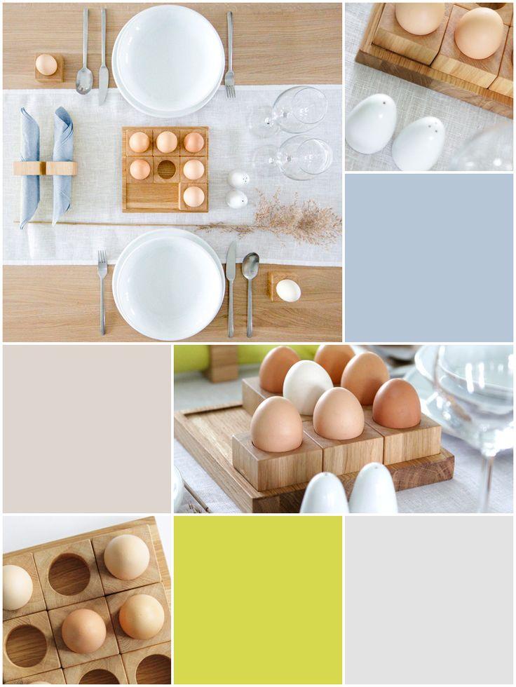 MILONI Easter table decor design ideas with MILONI egg holders.  www.miloni.pl/en