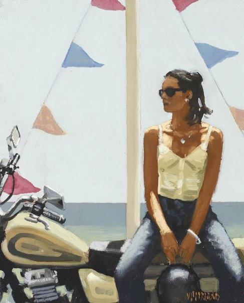 Jack Vettriano - La Fille a la Moto III