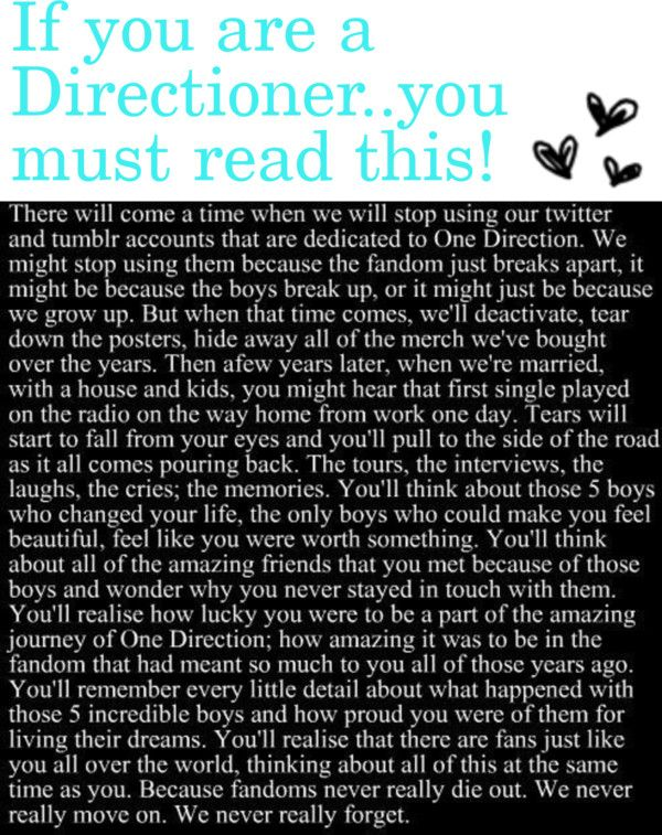 Wow that hit me. Can every directioner promise me that even when they break up, we will stay together and still post funny things about the boys, just like normal, as if they would still be together. Can every directioner promise me that, and comment below if your with me?!?!?! Please if you repost this, don't remove this caption, and keep the word going!!!! #directioners4ever