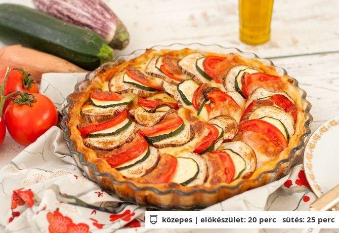 Ratatouille alapú zöldséges pite