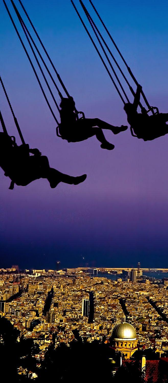 Adventurous Date ~ The Swings at Tibidabo mountain - Barcelona, Spain
