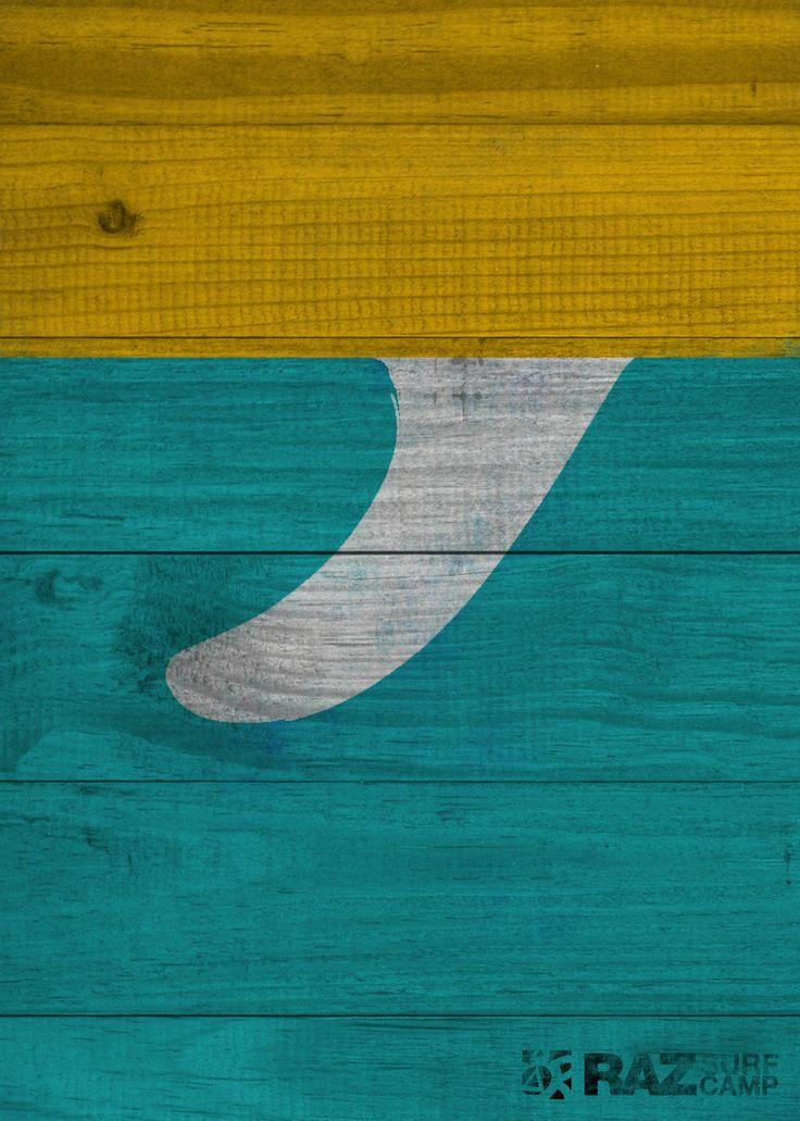 Aileron sur planche de bois.