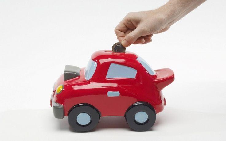red car piggy bank