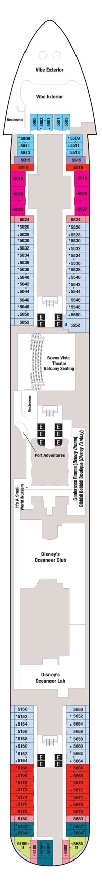 Disney Fantasy Deck 5 -- Cabins & Reviews -- Cruise Critic