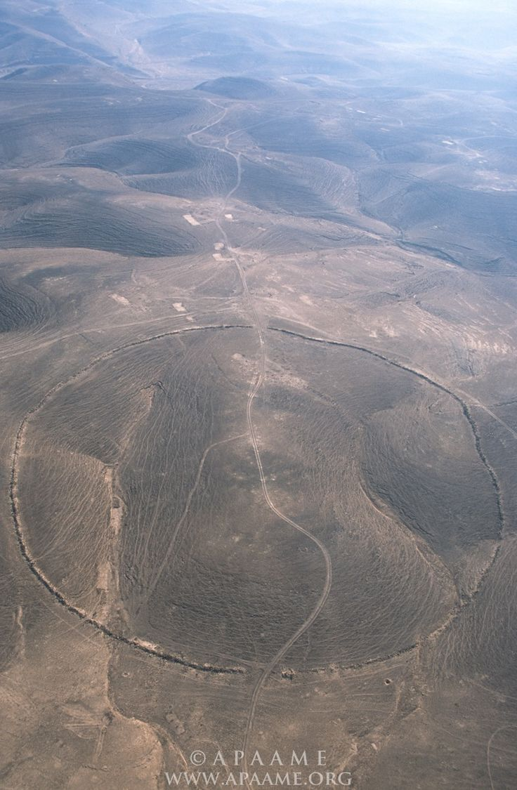 Huge stone circles discovered by air in the Middle East have been imaged with high resolution, revealing their age and other intriguing details. These aerial images suggest the Big Circles were created at least 2,000 years ago, possibly dating to prehistoric times. - Image Credit: David L. Kennedy