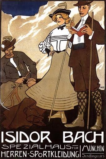 Isidor Bach hiking poster