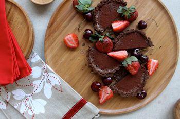 Chocolate and Coconut Christmas Tart