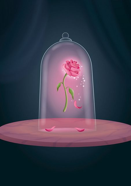 Beauty and the Beast Rose: i like this one as a tattoo idea