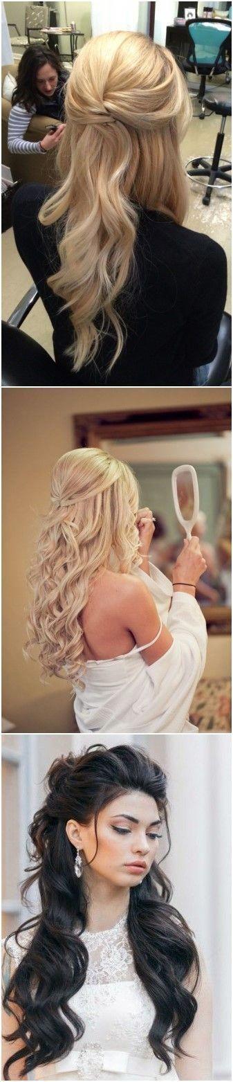 20 Half Up Half Down Wedding ceremony Hairstyles Anybody Would Love #weddings #weddinghair…