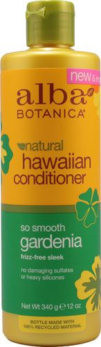 Alba Botanica® Natural Hawaiian Hair Conditioner Gardenia -- 12 fl oz - Vitacost.  Great for fine hair. Helps detangle, smooths hair and reduces frizziness. Really smells like gardenias.