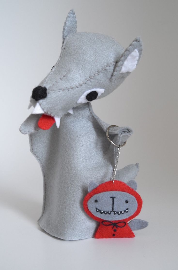 A personal favourite from my Etsy shop https://www.etsy.com/listing/268024517/wolf-toy-and-wolf-keychain-wolf-puppet