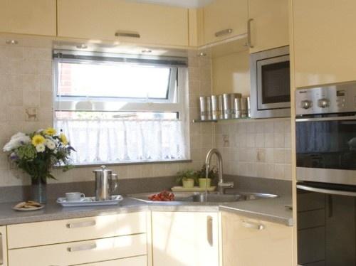 Efficiency Kitchen Work With Corner Sink Kitchen Kitchen