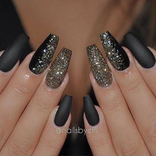 Black and glitter
