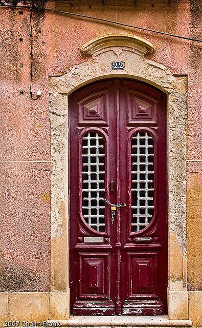 Old Door in Faro, Portugal
