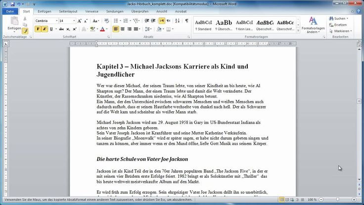 Word 2010 - Teil 15 - Inhalts- und Stichwortverzeichnis erstellen