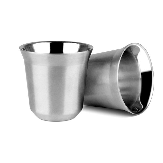 170ml Espresso Mug 85ml Steel Nescafe Stainless Coffee Cup For RS5Aj34cLq