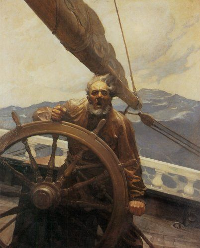 The illustrations of NC Wyeth.  He brought life and realism, to any story that included his wonderful illustrations.