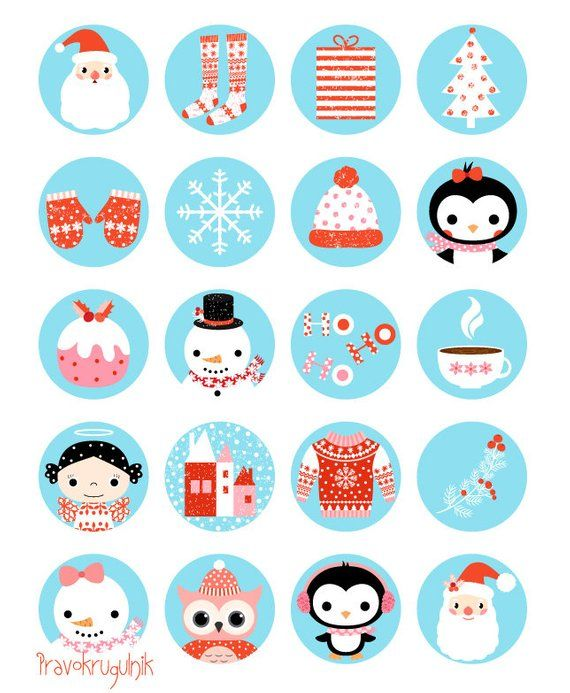 Digital Collage Sheet Christmas Circle Christmas Clipart Etsy Collage Sheet Digital Collage Sheets Banner Clip Art