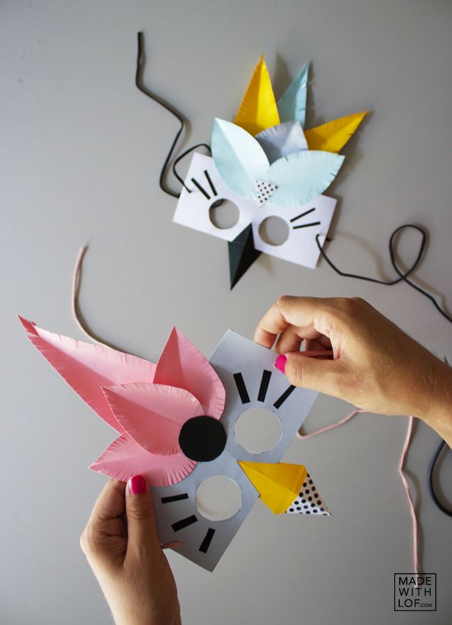 Made with lof: DIY - Cómo hacer máscaras bonitas y sencillas con niños
