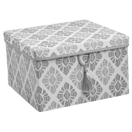 Xhilaration™150D Poplin Lidded Box with Tassel - Grey  Target  sc 1 st  Pinterest & 17 best bins images on Pinterest | Storage bins Storage boxes and ...