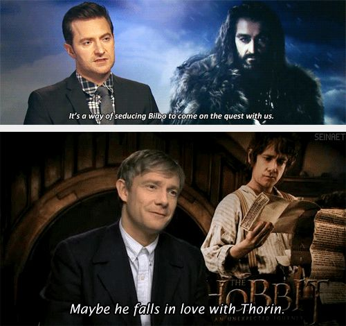 (gif set) Thilbo ||| Richard Armitage and Martin Freeman ||| The Hobbit