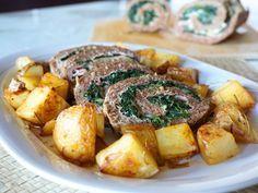 U secondo piatto molto versatile è il mio polpettone farcito con spinaci prosciutto e mozzarella. Un polpettone gustoso e scenografico.