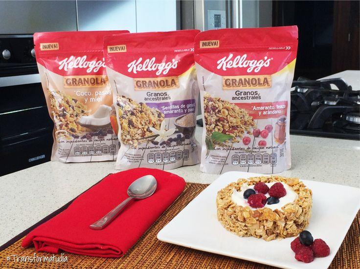 Granola Kelloggs's siempre es la mejor opción: rápido, práctico, nutritivo y delicioso.
