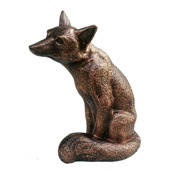 Bronze Fox Statue Eclectic Sculpture Hand by LazarusStatuary