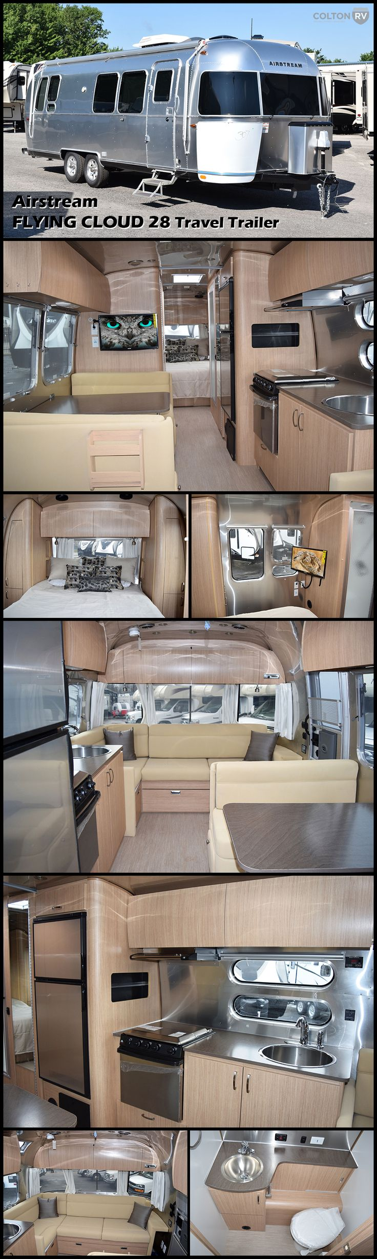 The FLYING CLOUD 28 travel trailer by AIRSTREAM is a perfect fit for families, long-term travelers or weekend wanderers. It lasts longer, requires less maintenance, offers better stability and towing and costs less at the fuel pump. You'll have the quality and comfort that is uniquely your style.