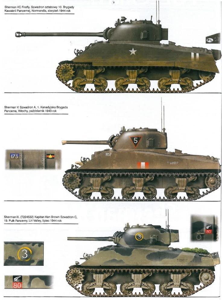 USA - M4 Sherman Tanks