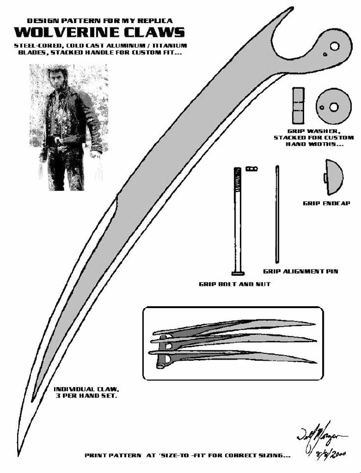 Wolverine claws... The pattern that started it all!!! in The Library of Do It Yourself! Forum