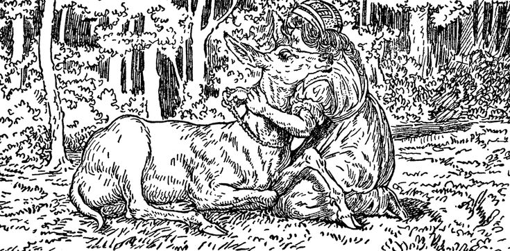 Deer from the story Brother and Sister, http://etc.usf.edu/clipart/16500/16562/deer_16562.htm