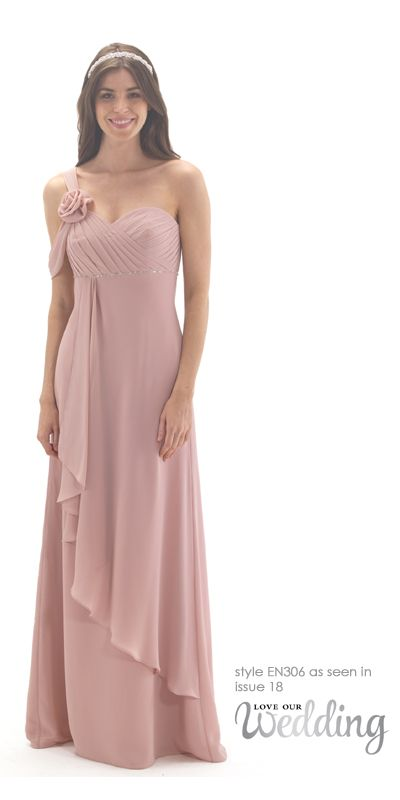 Chiffon One Shoulder Grecian Bridesmaid Dress