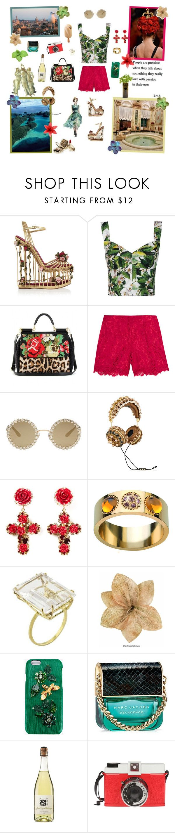 """""""5/10 Runway"""" by not-the-average-girl ❤ liked on Polyvore featuring Dolce&Gabbana, Lalique, NOVICA, Marc Jacobs, Edition and Potting Shed Creations"""