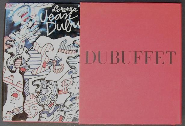 """Jean Dubuffet. Milano, De Luca, 1965. 275 tavole in nero e a colori applicate. Allegato in tasca in terza di copertina un disco 33 giri intitolato """"Le fleur de barbe"""", testo, musica, esecuzione dell'Artista"""