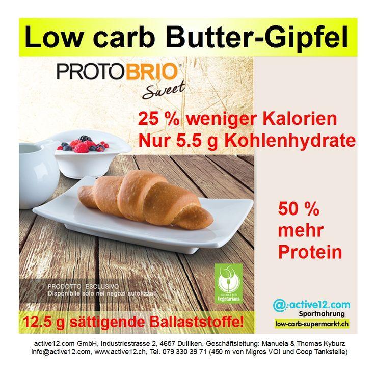 Low carb Butter-Gipfel ■ 25 % weniger Kalorien ■ Nur 5.5 g Kohlenhydrate ■ 50 % mehr Protein ■ 12.5 g sättigende Ballaststoffe! #lowcarb #lowcarbs #lowcarbschweiz #lowcarbswitzerland #lowcarbfood #lowcarbdiet #lowcarbhighfat #highprotein #hoherProteingehalt #abnehmen #abnehmenschweiz #fitness #fitnessschweiz #active12 #sixpack #Ciaocarb #Protobrio #sweet #süss #Süssigkeiten #naschen #Kaffee #Pause #Kaffeepause #Gipfel #Gipfeli #Hörnchen #cornetto #croissant #Buttergipfel #Snacks…