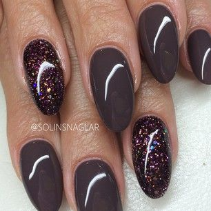 solinsnaglar | Instagrin | these nails are perfect for fall! #fallnails