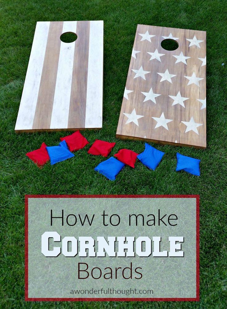 Great tutorial on how to make DIY cornhole boards aka bean bag toss | awonderfulthought.com