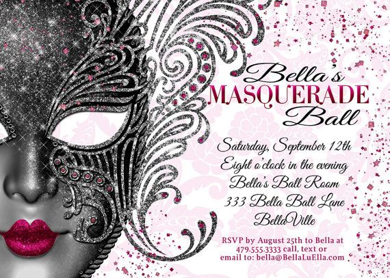 44 best masquerade invitations images on Pinterest Masquerade - prom invitation templates