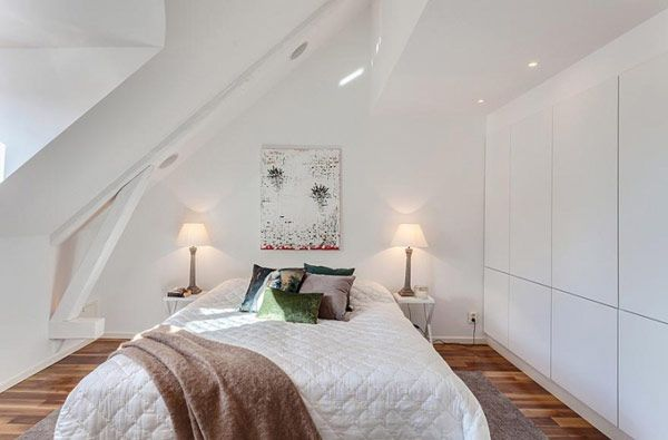White is a popular choice for small bedrooms!..great use of space…lots of closets!!!