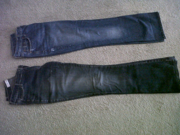 black and blue 70s denim