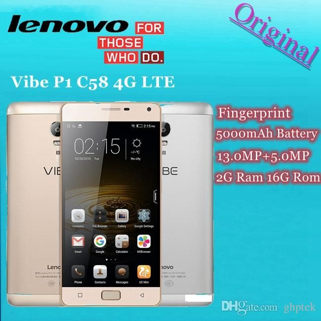 Original Lenovo Vibe P1 C58 P1c58 Android 5.1 Cell Phone 5.5 Inch Snapdragon 615 Octa Core 2g Ram 16g Rom 5000mah 4g Lte Unlocked Smartphone Discount Cell Phones Fastest Android Phone From Ghptek, $163.79| Dhgate.Com