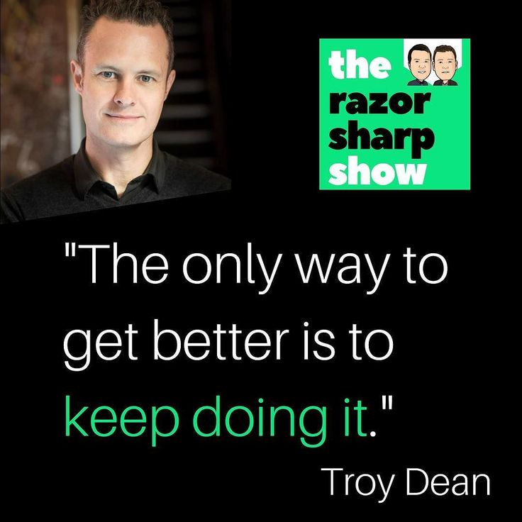 #razorsharp listen to the podcast. Link in the bio.  EP 056 : BIGGEST QUESTIONS (AND ANSWERS) ABOUT ONLINE COURSES WITH TROY DEAN
