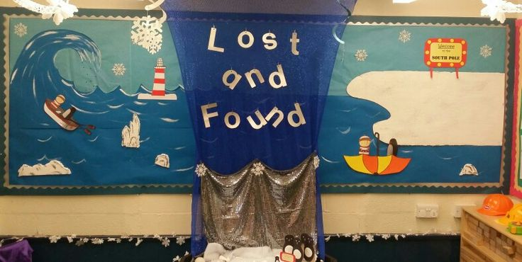 Lost and Found Oliver Jeffers display board!