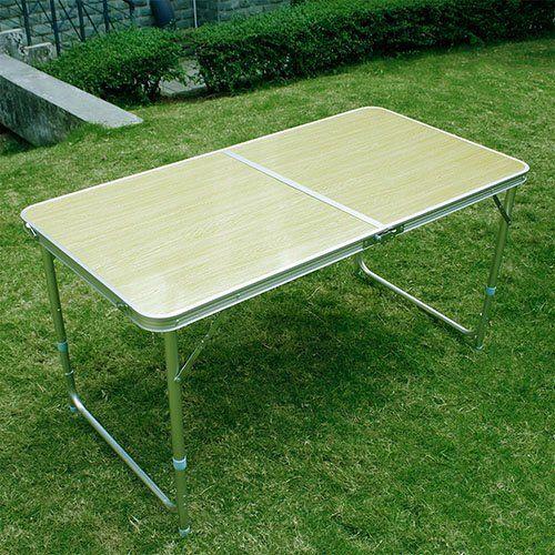 SPEED Klapptisch Campingtisch Koffertisch Falttisch Garten Tisch Klappbar Hellgelb