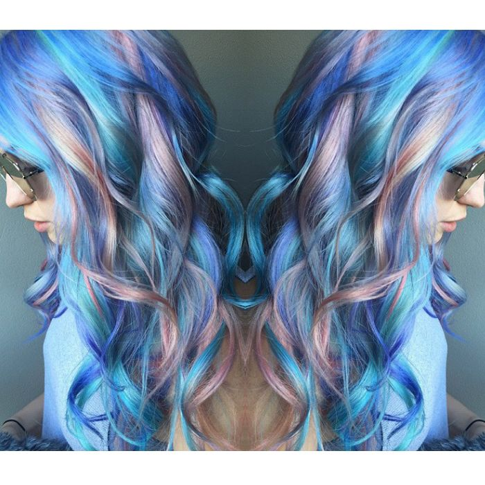 Blue ombre hair!