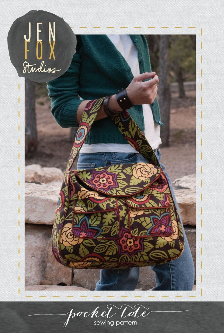 A well written, easy to follow, and understand PDF sewing pattern from JenFox Studios to sew this fabulous large capacity Pocket Tote bag.