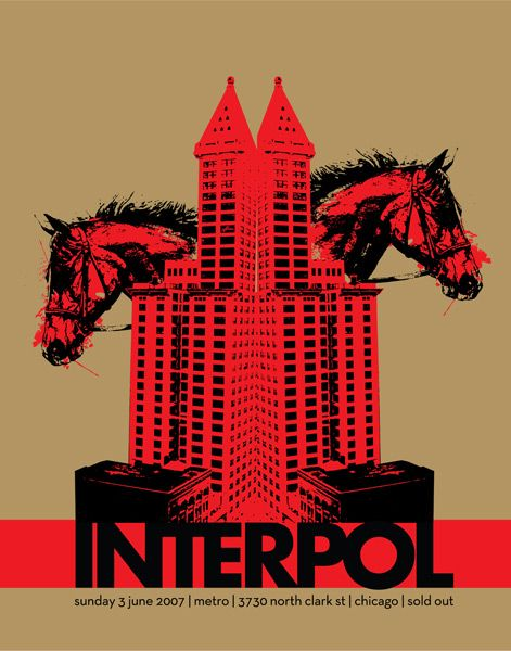 interpol band | you come here to me // fygigposters: 'Interpol' by Steve Sleeve
