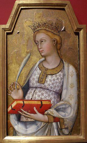 Paolo di Giovanni Fei, Die hl. Katharina von Alexandrien - St. Catherine of Alexandria