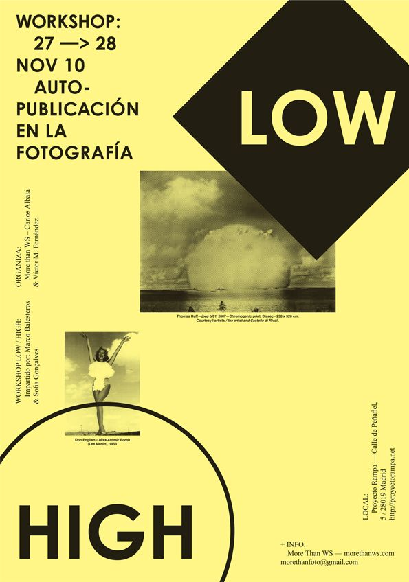 Letra-3High Madrid, Low High, Brilliant Posters, Gonçalv Design, Posters Work, Graphics Design, Workshop Low, Frommarco Balestero, Lowhigh